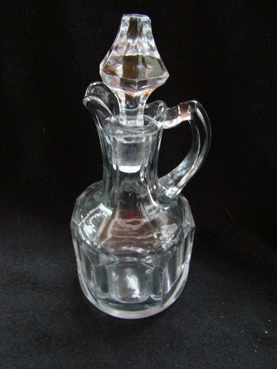 glass cruet decanter bottle with stopper vintage from treasuresvonenge on ruby lane. Black Bedroom Furniture Sets. Home Design Ideas