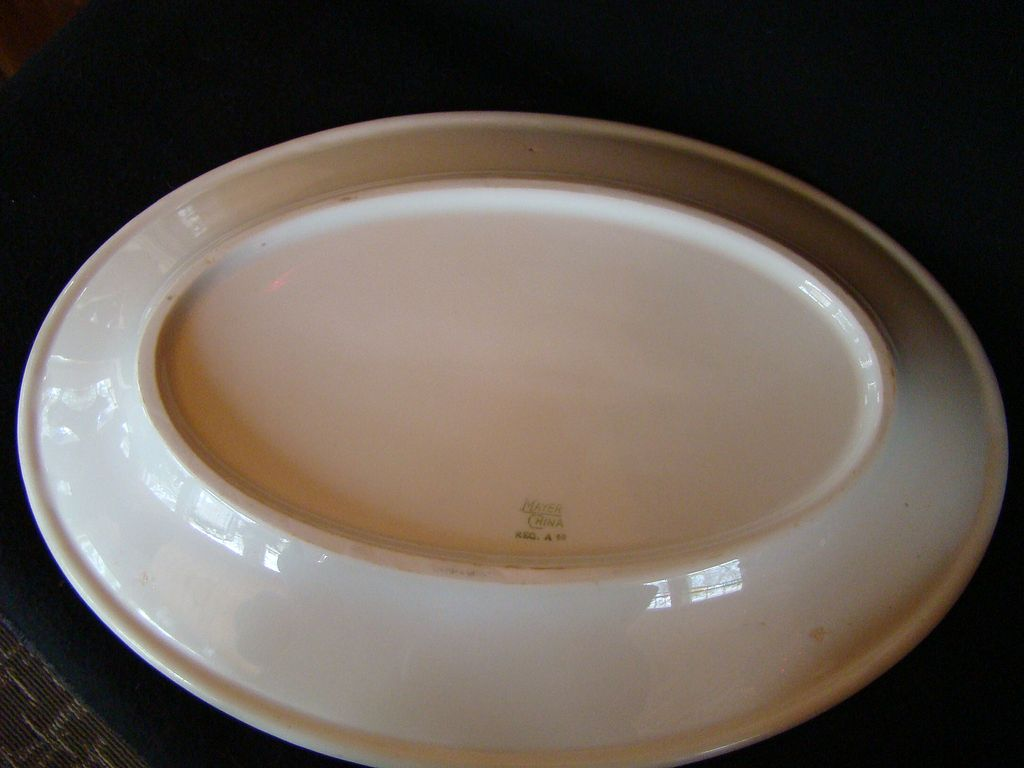 Mayer China Co Oval Platter Vintage Restaurant Ware Green