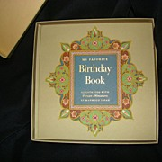 Vintage Adult Birthday Tracking My Favorite Birthday Book Hardcover Box Persian Miniatures Sayah