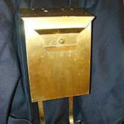 Brass Mounted Mailbox Vintage with Magazine Rack