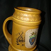 Ceramic McCoy Tankard Stein Mug USA Lion Crest, Windmill Dutch Reference