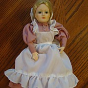 Blonde 1984 Enesco Porcelain Doll Depicting 1800's dress