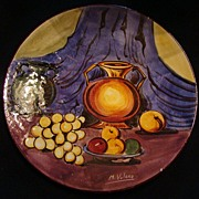 M. Valero Hand-Painted Decorative Plate