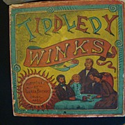 Tiddledy Winks.  Famous Parker Brothers Game from Salem Mass.