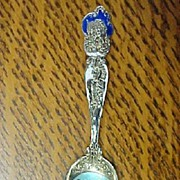 """Sterling Silver Enamel Souvenir Spoon """""""
