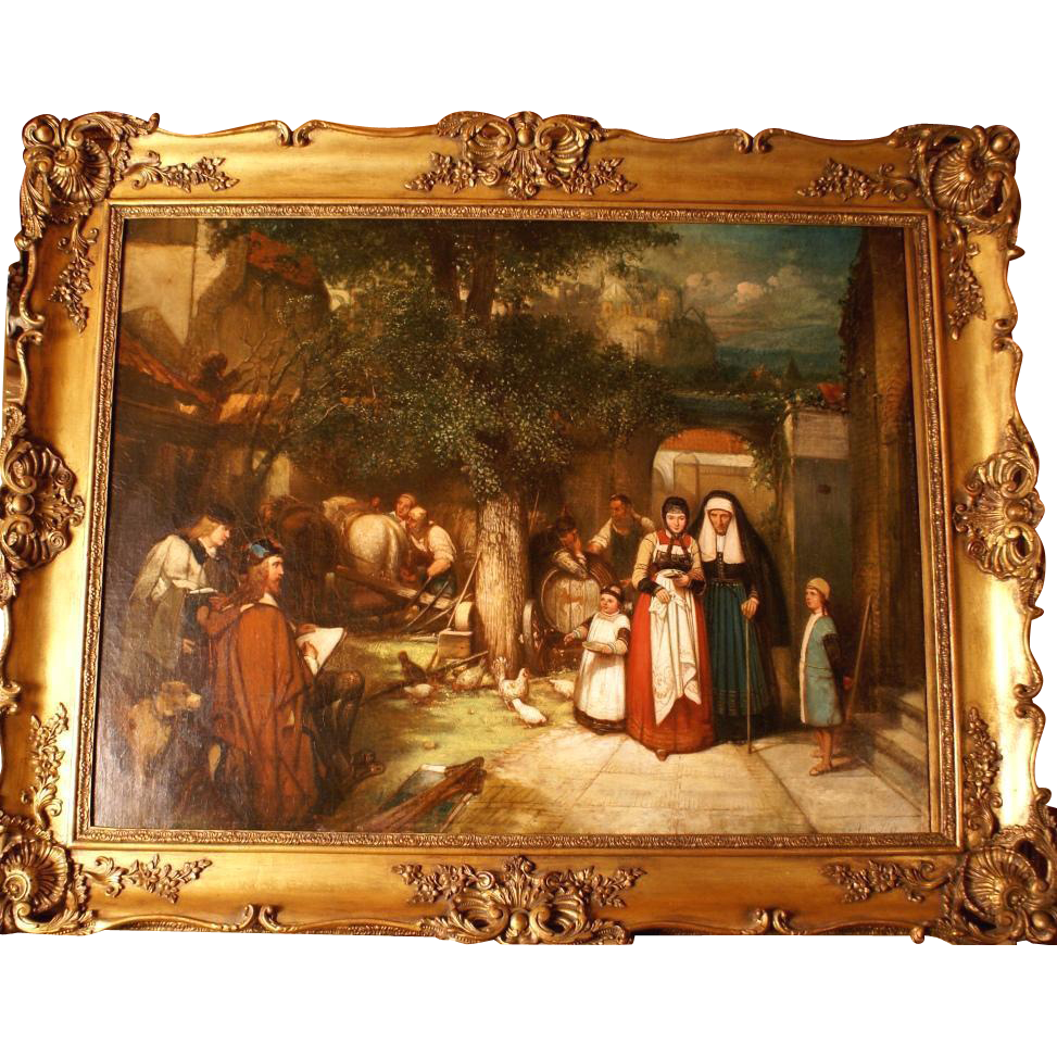 Superb Romantic historical 1850 Dutch Masterpiece by ...