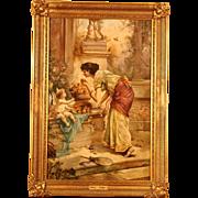 "Superb romantic 1900 painting "" Venus with Amor"" . Hans Zatzka ( 1859-1945). High quality."