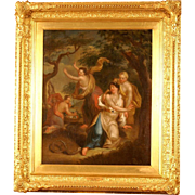 Superb French 18thC oil painting , Orpheus and Eurydice, Francois Boucher, top museum quality!