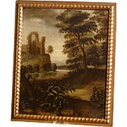 Superb 1622 Dutch painting, a biblical Italianate landscape, monogrammed and dated, Jacob S Pynas ( 1585-1648). Museum quality.