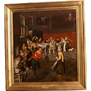 Superb 17th Dutch painting Genre interior of a party, J Steen, museum quality painting. 1 WEEK REDUCED!