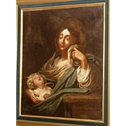 Superb 17thC Italian Master painting, Madonna with Holy Child, top museum quality.