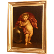 Superb 17thC painting by Flemish Master, highly attributed, superb top museum quality. The Holy Child. Low price! 50% REDUCED FOR ONE WEEK