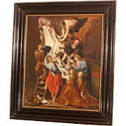 Early 18thC painting, the Descent from the Cross, follower of Pieter Paul Rubens. Great quality painting!