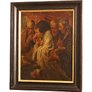Great 17ThC Flemish religious painting, the four Evangelists, study by studio or follower J Jordaens. Great quality! 1 WEEK REDUCED!