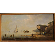 Superb early 19thC marine painting, by highly listed French master Pierre-Julien Gilbert ( 1783-1860). Top marine painting!! Museum quality!!