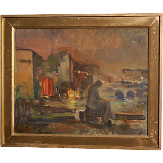 Great impressionist fauvist French painting, highly listed French master, from around 1905-1910. Signed. Museum quality!