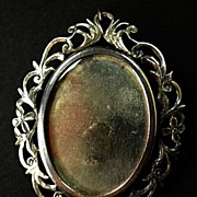 Silver Edwardian Photo Pendant/Brooch