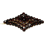 Antique Victorian Bohemian Garnet Brooch