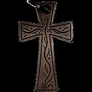 Antique Victorian Mourning Vulcanite Cross Pendant