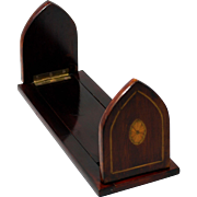 Art Deco Maghoney Wood Expanding Bookends with Inlay