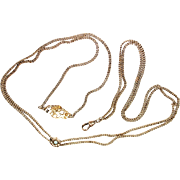 Art Nouveau Slide Chain with Brooch Pin