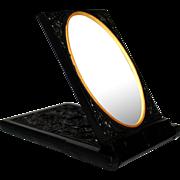 Antique Victorian Thermoplastic Folding Mirror