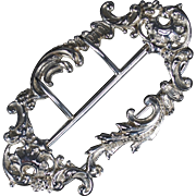 English Victorian Sterling Belt Buckle; c. 1897