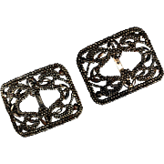 Victorian French Cut Steel Buckles
