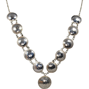 British Silver Coin Necklace; 1912–1943
