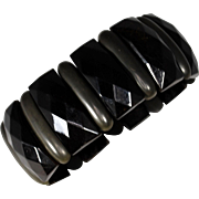 Victorian Horn and Vulcanite Mourning Bracelet