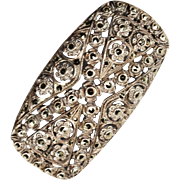 German Art Deco Sterling Marcasite Brooch
