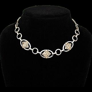 Vintage Sterling Danecraft Marcasite Choker Necklace