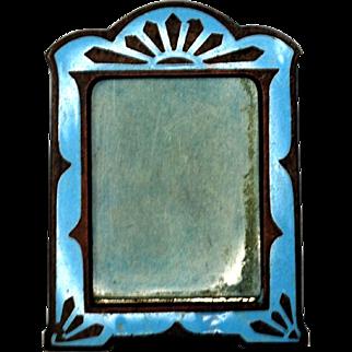 Miniature Enameled Art Deco Picture Frame
