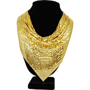 Vintage Whiting & Davis Gold Mesh Necklace