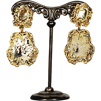Vintage French Haute Couture Zoe Coste Earrings; Clip-Ons