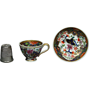 Antique Georgian Miniature Spode Doll Size Toy Cup and Saucer Regency Era Imari Pattern 3071 Circa 1820 AF