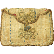 RESERVED JW Antique Georgian Silk Purse Pocketbook French Circa 1790s AF
