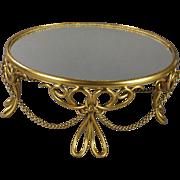 Antique French Mirror Plateau Display Stand Gilt Ormolu 1870