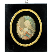 English 19th Century Print In Stunning Portrait Frame After Cipriani Bartolozzi