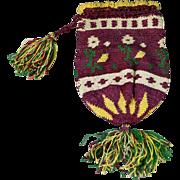 Antique 19th Century Purse Crochet Circa 1830