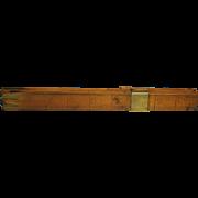 English 19th Century Treen Boxwood Foot Measure Shoe Size Stick Circa 1880