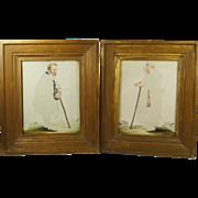 Antique Georgian Pin Prick Pinprickt Watercolor Pictures 1780 Folk Art