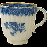 Antique Circa 1780 English Blue and White Transferware Pearlware Cup Circa Georgian AF