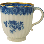 Georgian Blue and White Transferware Pearlware Cup Circa Georgian English AF