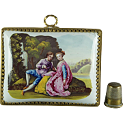 18th Century Enamel Picture Plaque After Lancret, circa 1765 Rococo Louis XV Georgian