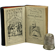 19th Century Miniature Almanac Leather Book Doll Size The Victoria Miniature Almanack and Fashionable Remembrances 1854