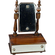Antique 19th Century French Miniature Doll Swing Toilet Mirror Dresser With Drawer Victoria Circa 1870