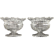 Georgian Anglo Irish Cut Crystal Compote Dishes Circa 1810 STUNNING