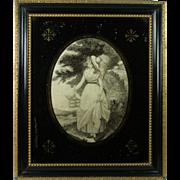 RESERVED JG Circa 1790 Silkwork Embroidery Print Work English Georgian