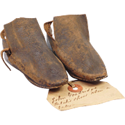 RESERVED AD Rare 18th Century Shoes English Leather 1760's Example John Goodridge Falck Cornish